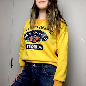 Sweaters - 🌿2/$35 Bright Yellow Florida Crewneck Sweater